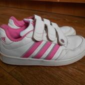 Кроссовки Adidas Ortholite на девочку.34размер21,5см.Кожа.Оригинал.