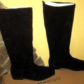 сапожки испанского бренда Mango,натуральная замша