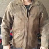 Мужская демисезонная  кожанная куртка. . размер 48-50 или L - xl