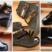 Модные, натуральные деми ботинки.Разные модельки. В наличии!!!