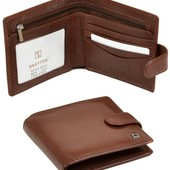 Мужской кожаный кошелек Bretton натуральная кожа В наличии разные модели
