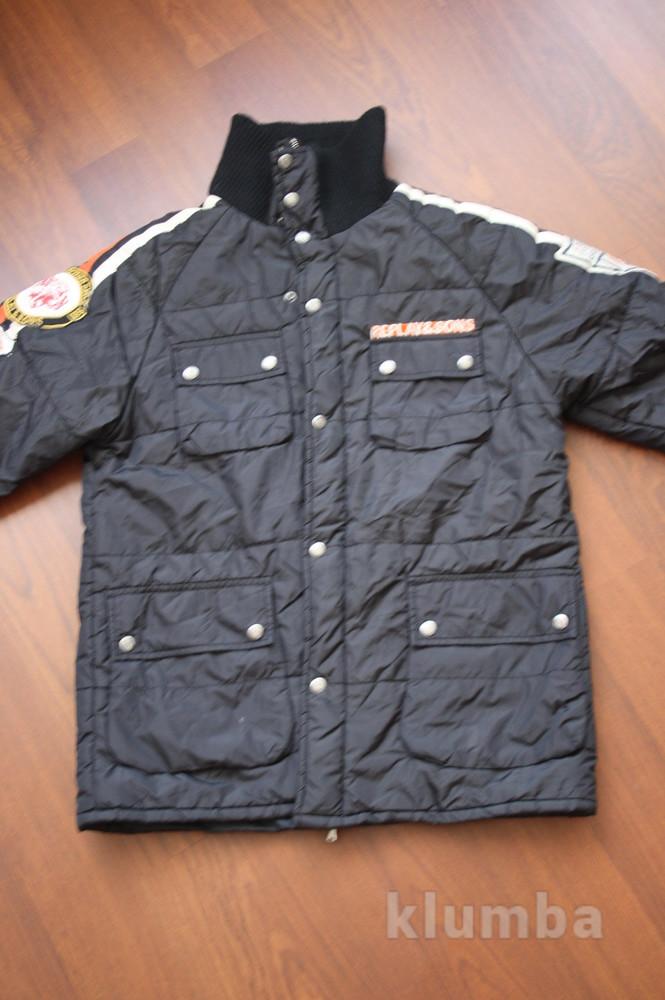 12-14 лет (152-158 см) replay(италия) демисезонная куртка для мальчика. идеальное состояние фото №2