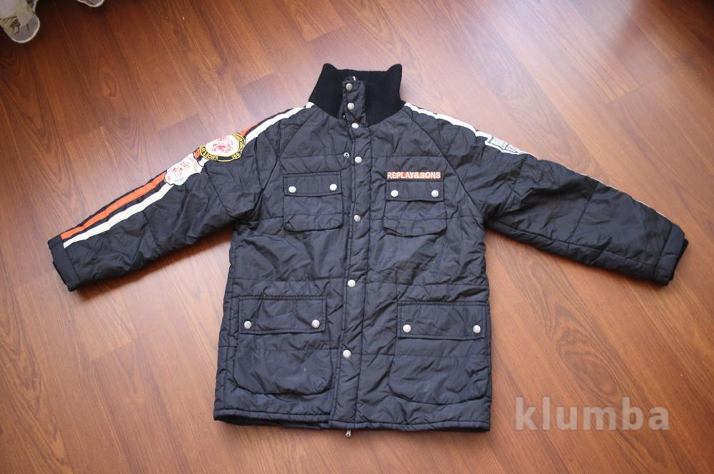 12-14 лет (152-158 см) replay(италия) демисезонная куртка для мальчика. идеальное состояние фото №3