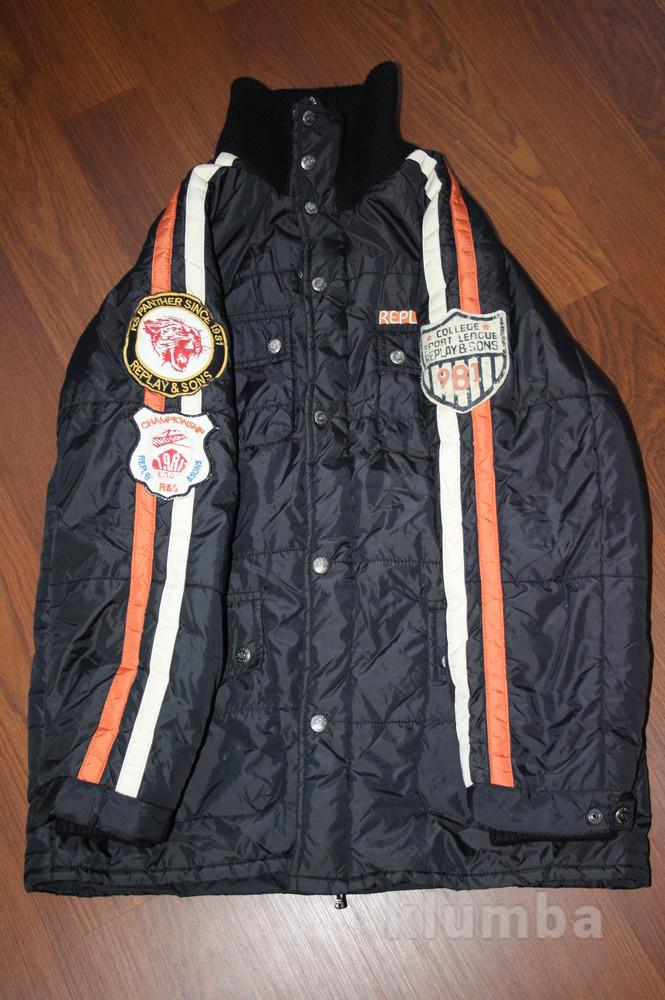 12-14 лет (152-158 см) replay(италия) демисезонная куртка для мальчика. идеальное состояние фото №6