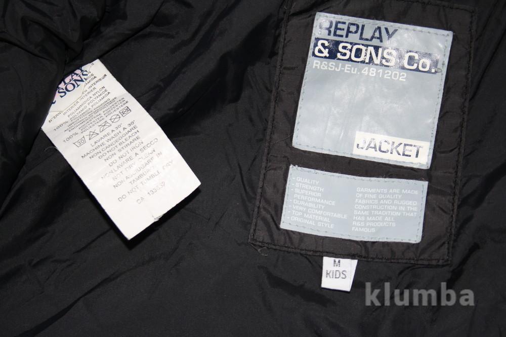 12-14 лет (152-158 см) replay(италия) демисезонная куртка для мальчика. идеальное состояние фото №8