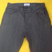 Мужские фирменные катоновые брюки,немного стрейчевые.32 размер.