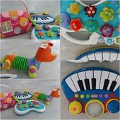 Наши музыкальные игрушки Mothercare,  Little tikes,  tiny love, chicco