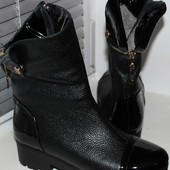 Полусапоги-ботинки кожа женские