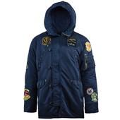 Мужская зимняя куртка N-3B Pilot parka Alpha industries (Альфа индастриз)