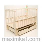 """Детская кроватка для новорожденных """"Малятко"""" с поперечным механизмом и ящиком"""