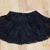 Красивая фатиновая юбка Bluezoo для девочки 3-4 года, 98-104 см