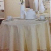 Нарядная скатерть на круглый стол Турция