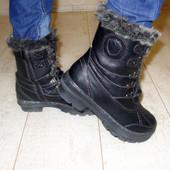 Ботинки зимние черные опушка С321 р.36,37,38,40