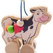 Лабиринт-каталка «Коровка», мир деревянных игрушек