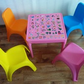 Столик Абетка + 2 стульчика