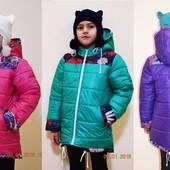 Куртка деми на весну-осень для девочки, три расцветки