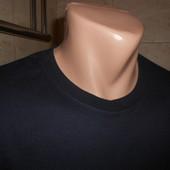 Темно - синяя футболка р. S хлопок