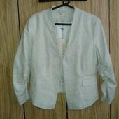 Красивый нарядный пиджак ,новый! Р.46
