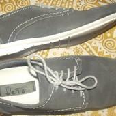 кожаные туфли-мокасины р.42