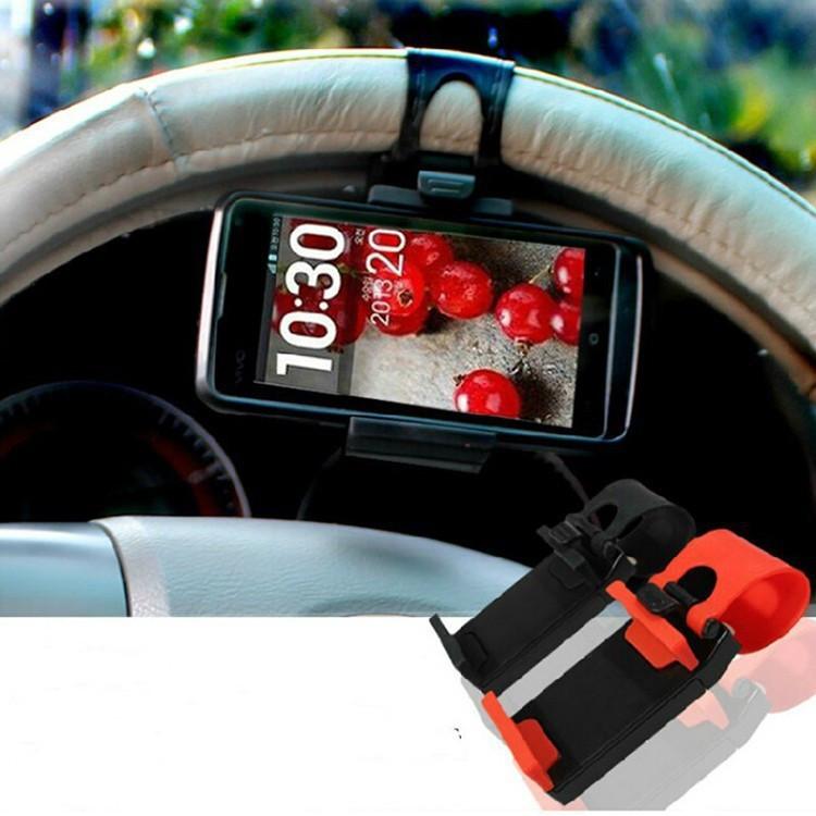 Автомобильный держатель телефона, gps на руль авто фото №1