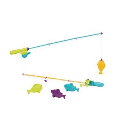 Battat lite игровой набор магнитная рыбалка 2 удочки, 4 рыбки баттат батат фото №1