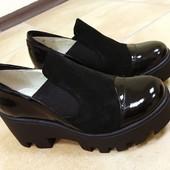 Стильные туфли Замша и  кожа 36-40рр
