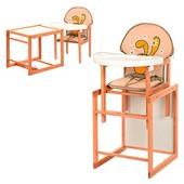 Виваст Зайчик Крош MV 100 стульчик для кормления трансформер Vivast деревяный столик