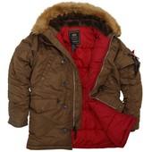 Куртка аляска из сша alpha industries n-3b slim fit parka