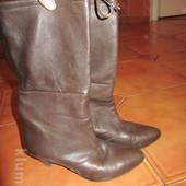Ботинки сапожки Италия нежная кожа Vero Cuoio 35-36 размер