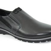 Стильные мужские туфли MIDA натуральная кожа