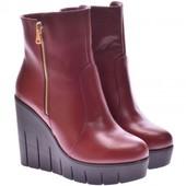Кожаные,замшевые ботинки на танкетке осень-зима(3030),р-ры 36-40,разные цвета!
