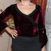 Нарядная женская бордовая блуза