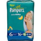 памперсы эктив беби драйв Pampers Active Baby 6 (15+кг) 16 шт