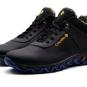 Ботинки Columbia Track II, кожа на меху, черные, р. 40-45, зима, код kv-3919-6