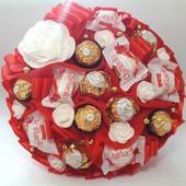 Букет из конфет Ferrero Rocher, Raffaello арт 1278
