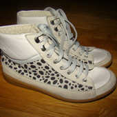 Модные кожаные ботинки River Island Италия р.3/36  22 см  по стельке