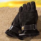 Замшевые перчатки Tchibo 9,5р
