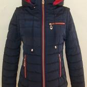 Женская демисезонная куртка-трансформер Три цвета куртка-жилетка с отстегивающимися рукавами