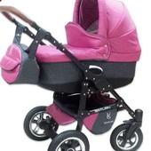 Новая! детская универсальная коляска Victoria Gold Saturn Len Plastic 2в1, малиновая slp3