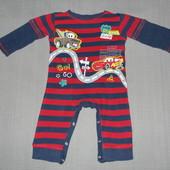 Пижама-слип,человечек котоновый р.6-9мес.,George.