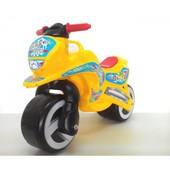 Мотоцикл беговел Киндер Вэй пластиковый желтый 11-006 Kinder Way