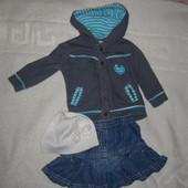 Пакет одежды на девочку р.62-74