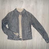 Джинсова двухстороння куртка colins(show room)єдиний екземпляр  42-44