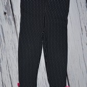 12 месяцев Яркие модные фирменные легинсы лосины девочке в горох с бантиками