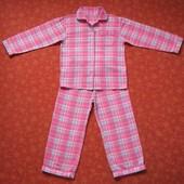 Байковая пижама на 8-9 лет, б/у. Длина штанов 75 см, шаговый 50 см. Кофта длина 51 см, ширина 42 см,