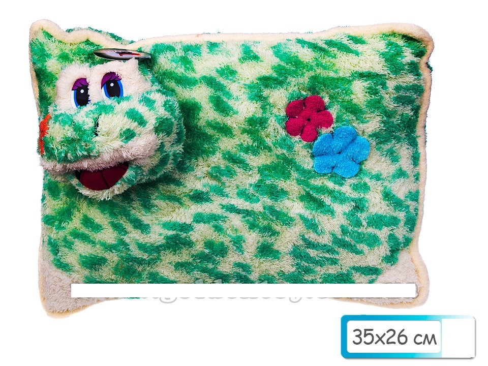 Подушка лягушка маленькая пятнистая 35х26см фото №1