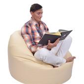 Большое кресло-мешок из кожзама Зевс