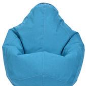 Детское кресло-груша голубое 100х75 из микророгожки с внутренним чехлом
