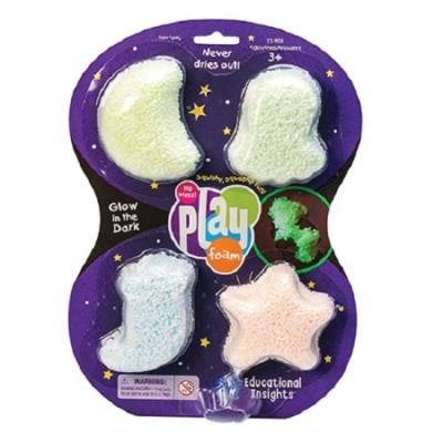 Educational insights набор шарикового пластилина звездное сияние 4 цвета фото №1
