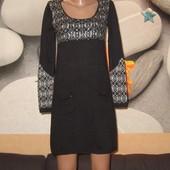 Платье теплое,Франция,с паетками,жемчугом,р-р М